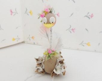 Fancy Feathers Ostrich Miniature figurine