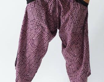 HC0534  Samurai Pants, Samurai Pants (Unisex) Elastic Waist ,Wrap pants