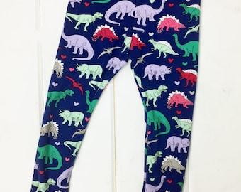 Dinosaur Leggings Girl - Dinosaur Leggings - Dinosaur Leggings Toddler Girl - Girl