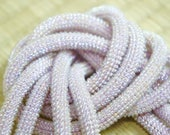 Pastel pink beaded obijim...