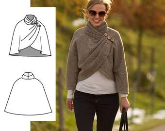Cape Sewing Pattern. Womens cape pattern. Women's Sewing pattern Cape - Download sewing pattern