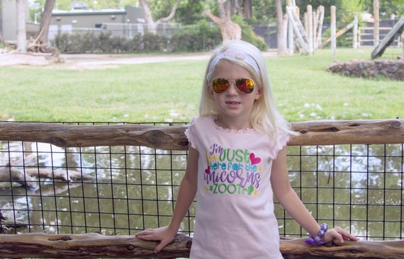 Girls Zoo Shirt - Kids Zoo Shirt - Zoo Trip Shirt - Unicorns and Mermaids - Girls Summer Shirt