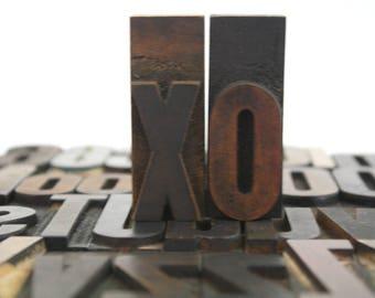 Vintage Wooden Letterpress Type.  2 1/2 inch Wood Letters / Pick Your Letters