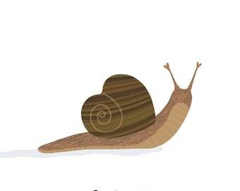 Snail (4x4 Card)