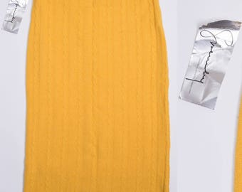 GIVENCHY SPORT Lamb's Wool Knit Yellow Pencil Skirt New With Tags *NWT*