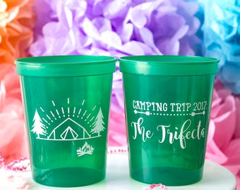 Camping Trip, Lake Trip, Family Reunion Favor, Vacation Cup, Stadium Cups, Plastic Cups, Weekend Trip, Lake House Cups, Custom Cups
