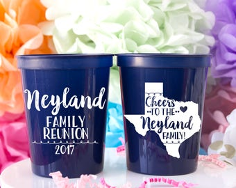 Family Reunion Party, Family Reunion Favor, Family Reunion Gift, Wedding Cup, Family Gathering, Wedding Favor, Custom Cup, Personalized Cup