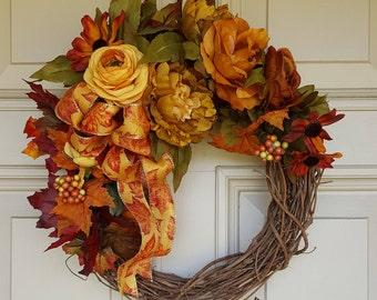 Wreath Sale|Fall Door Wreath|Thanksgiving |Autumn Wreath|Petite Wreath|Seasonal Door Wreaths| Home Decor|Holiday