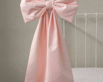 """Large Baby Crib / Cot Bows, Nursery Bows, Curtain Tie Back, Nursery Wall Decor, Bassinet Bow - about 12"""" X 24"""""""