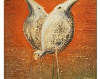 Birds Original Art digital print ,Wall Art, Original Painting print, Printable Digital Art, INSTANT DOWNLOAD, Home Decor