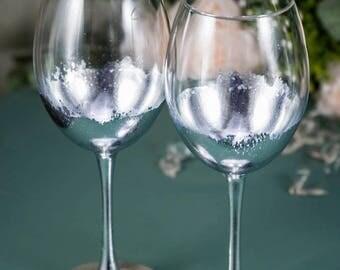 Wedding anniversary toasting glasses anniversary champagne