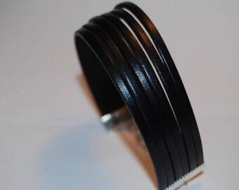 Leather Bracelet genuine black