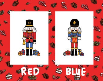 NEW -  Pack of 4 or 8 - NUTCRACKER Christmas Card
