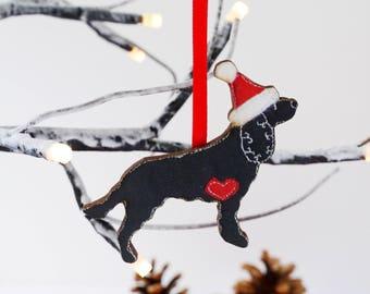 Cocker spaniel Christmas ornament decoration - black working cocker spaniel - WOODEN decoration for spaniel dog lovers