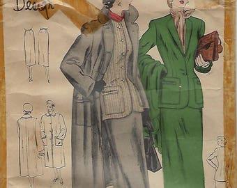 """Vogue Special Design S-4803  Misses' Suit And Coat  Size Bust 39""""  UNCUT"""
