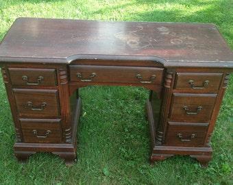 vintage office desks. vintage double pedestal desk paint to order custom painted vanity office desks o