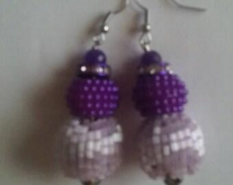 Light and Dark Purple Earrings