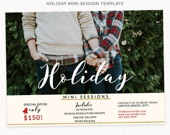 Holiday Mini Session Template, Holiday Mini Session Marketing, Holiday Photography Templates, Christmas Photography Marketing Board, cr004