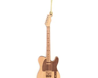 Personalized Wood Telecaster Guitar Ornament