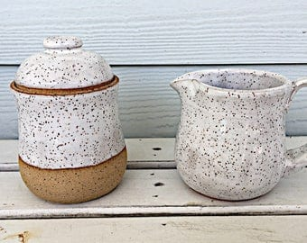 Rustic Sugar Bowl and Creamer