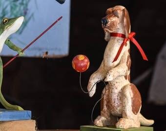 Folk Art puppy and ball