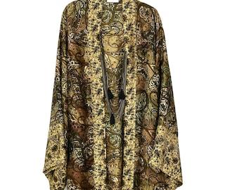 Kimono jacket, silk robe, silk kimono, kimono robe, silk kimono robe, silk kimono jacket, kimono robes, gold silk kimono, silk robes