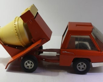 vintage 1970 Structo toys orange Cement Truck.
