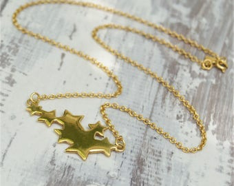 Discontinued stock sale - Silver vermeil star pendant - Gold star pendant - Staement necklace - Star jewellery - Starburst collection
