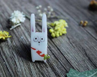 Happy Easter Bunny gifts Brooch Christmas Kids Gift for Kids Gift for Teens Teen gift Toddler gift Baby gift Best friend gift Coworker gift