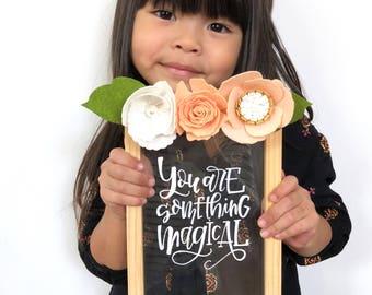Nursery Art / nursery decor / baby girl / baby girl room / girl room decor / handlettered quote / baby gift / calligraphy /  nursery print