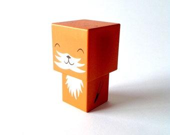 """Figurine cubique en bois décorative """"Renard"""" - taille M ou L"""