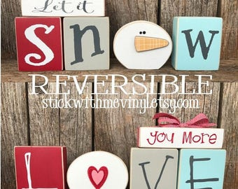 Love Blocks, Love You More, Reversible Blocks, Valentineu0027s Day Sign, Love  You