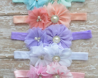Baby headbands, flower headbands large bow headband, new baby girl gift, baby girl gifts, big bow headbands, girls bows, spring headbands
