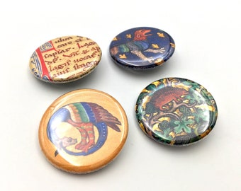 illuminated manuscript pins | medieval book of hours