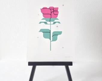 Rose #1- original gouache painting