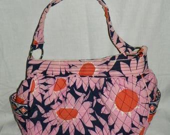 Vera Bradley LOVES ME Reversible Puffy Tote Bag Purse Handbag Retired Pattern