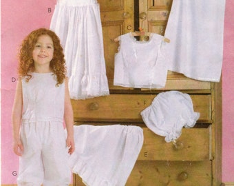 Girl's Slips, Camisoles, Petticoat, Panties and Bloomers, McCall's M4505 Sewing Pattern, Multi-Size 3, 4, 5, 6, Uncut