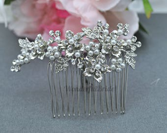 Vintage Inspired bridal hair comb,crystal hair comb,Swarovski hair comb,wedding hair comb,bridal hair accessories,wedding hair, HC056