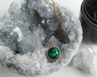 Necklace l Malachite