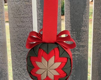 Flightsuit Quilted Christmas Ornament- Custom 2