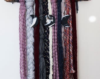 Moon Phase Yarn Wall Hanging - Dionysus