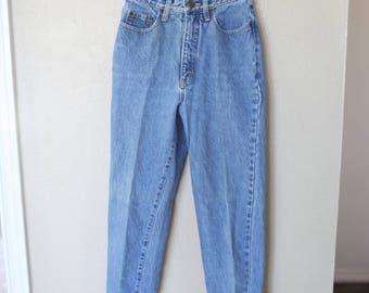 vintage paris sport club  high rise distressed  mom  jeans denim 26