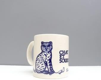 "Vintage Taylor & NG ""Chat Et Souris"" Cat and Mouse Mug"