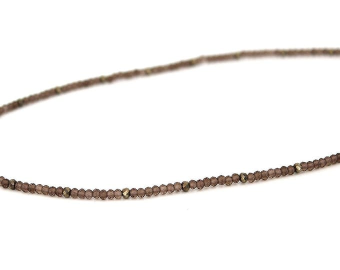 the smoky quartz Choker