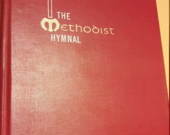 1960s Methodist Hymnal - Red Hardcover - Traditional Hymns