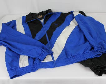 Vintage JC Penney Olympic Windbreaker Wind Jogging Suit Rare Color XL