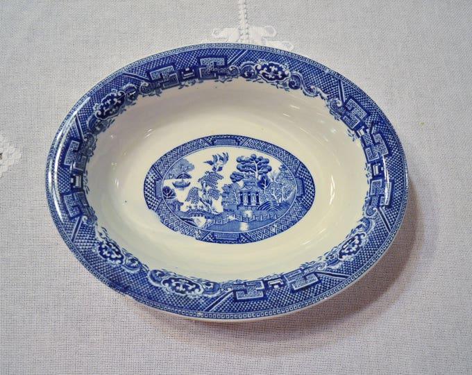 Vintage Blue Willow Oval Serving Bowl Royal Venton Ware John Steventon England Replacement PanchosPorch