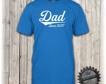 New Dad Gift,Dad established shirt,New Dad shirt,Baby Announcement,Daddy Shirt,Mens T,Pregnancy announcement for husband-ANY DATE-_BFC95