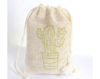 Cactus Fiesta Bag Party Set 6 birthday party baby shower goodies treat bag