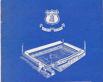Vintage Football (soccer) Programme - Everton v Leicester City, 1967/68 season